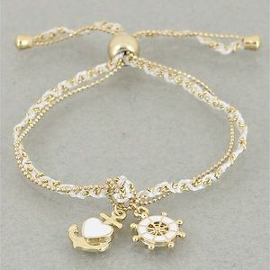 Jewelry - 4 for $25 Anchor rudder charm bracelet